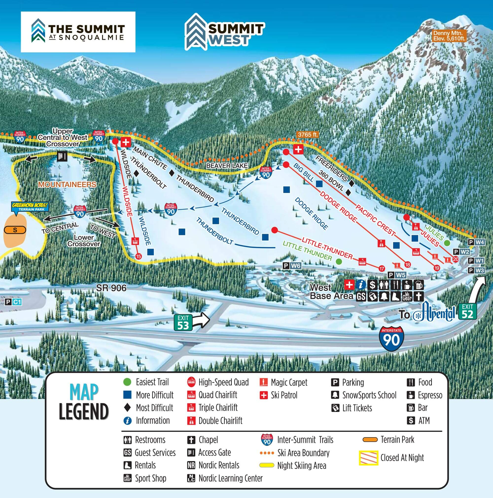 Trail Maps Summit At Snoqualmie